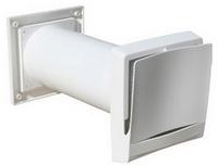 Приточный клапан, монтируемый в сквозное отверстие в наружной стене здания