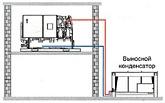 Выносной конденсатор расположен ниже холодильной машины