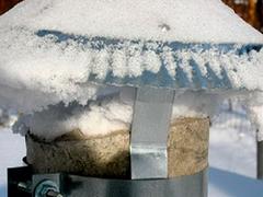 Обмерзание инеем флюгарки