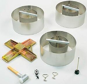 Двухкольцевой инфильтрометр для замера фильтрующей способности грунта по ГОСТу 23278