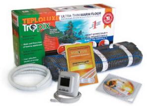 Нагревательный мат и другие компоненты системы электрического напольного отопления